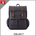 Customized high quality multifunction big capacity canvas mummy baby diaper bag backpack