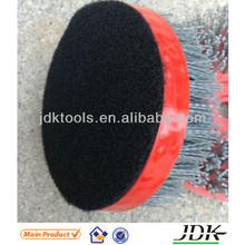 125mm round brush stone surface antique brush for marble granite connection tungsten carbide abrasive brush