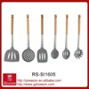 New Design Eco-Friendly Silicone Kitchenware With wood handle