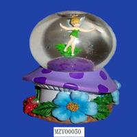 Purple Spirit Garden Snow Globe