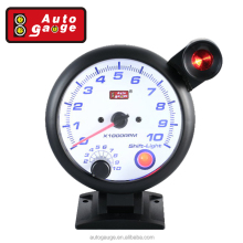 95 mm Smoke Stepper Gauge White LED RPM Tachometer