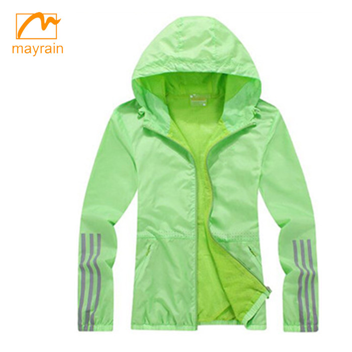 lady waterproof sports rain jacket