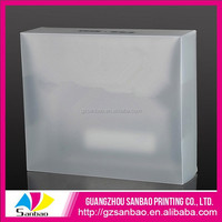 2014 wholesale eco-friendly cheap plastic shoes box, soft eco shoe containers
