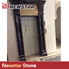 Black gold marble fireplace made in china