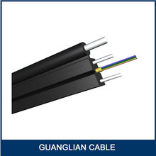 ftth drop cable tight buffer optical fiber 1 core with 1.2mm messenger wire