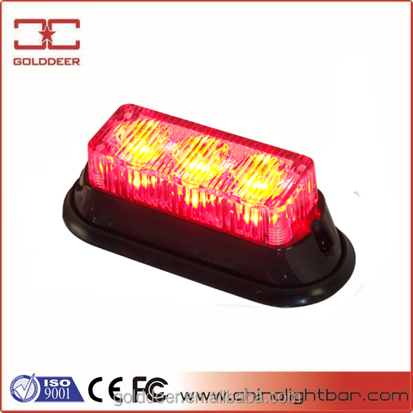 High Quality Red Grilled Headlight Motocycle LED Strobe light (SL623)