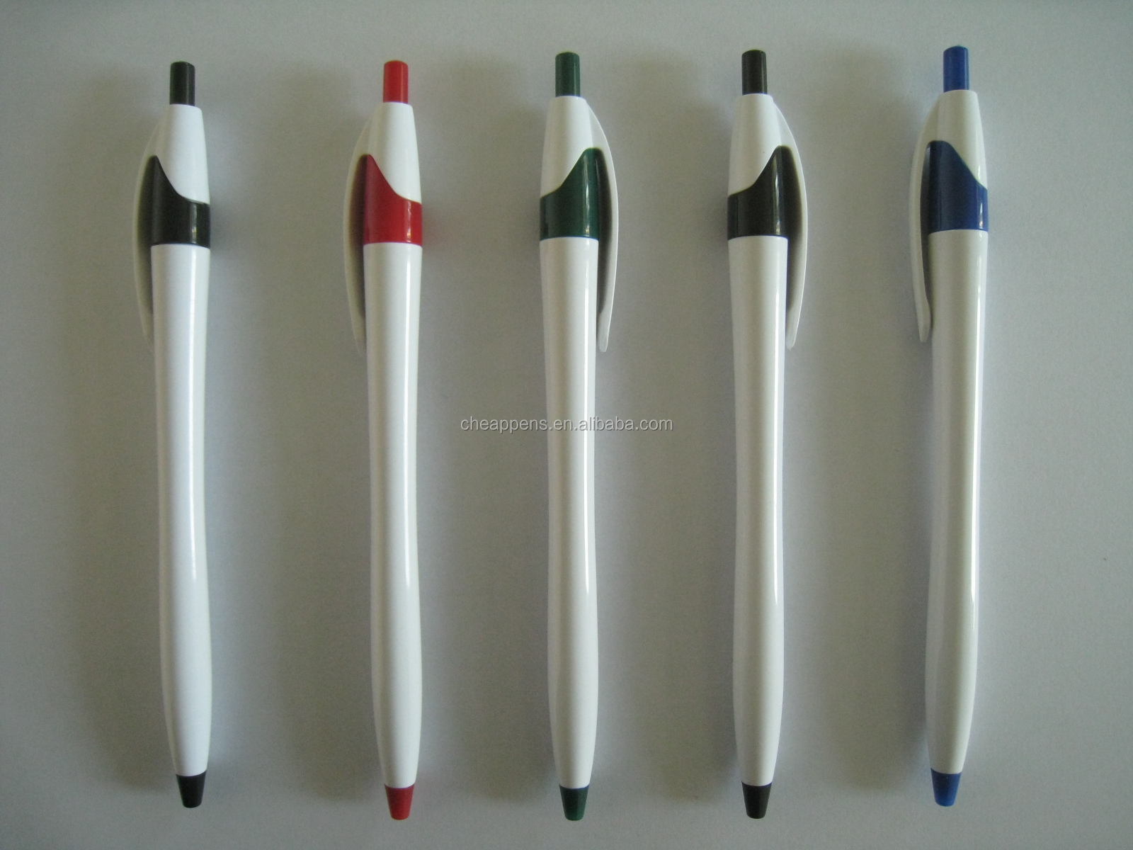 advertising plastic promotional ballpoint pen with custom logo