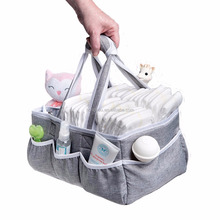Baby Diaper Caddy Organizer Portable Storage Bin for Diapers, Wipes, Baby Bottles and more