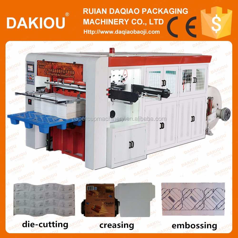China Best Automatic Stable Paper Cup and Bowl Roll Fedding Die Cutting Machine