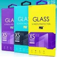 Premium Tempered Glass Screen Protector Paper Packaging,Screen Protective Film Packaging Box 100/pcs free shipping KJ-242