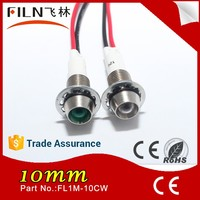 Filn 12V Red and Green 10mm loop powered indicator with 20cm cable