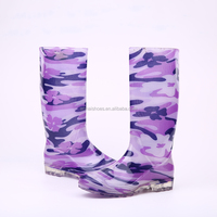 2016 Wholesale bright ladies PVC rain boots, women rain boots