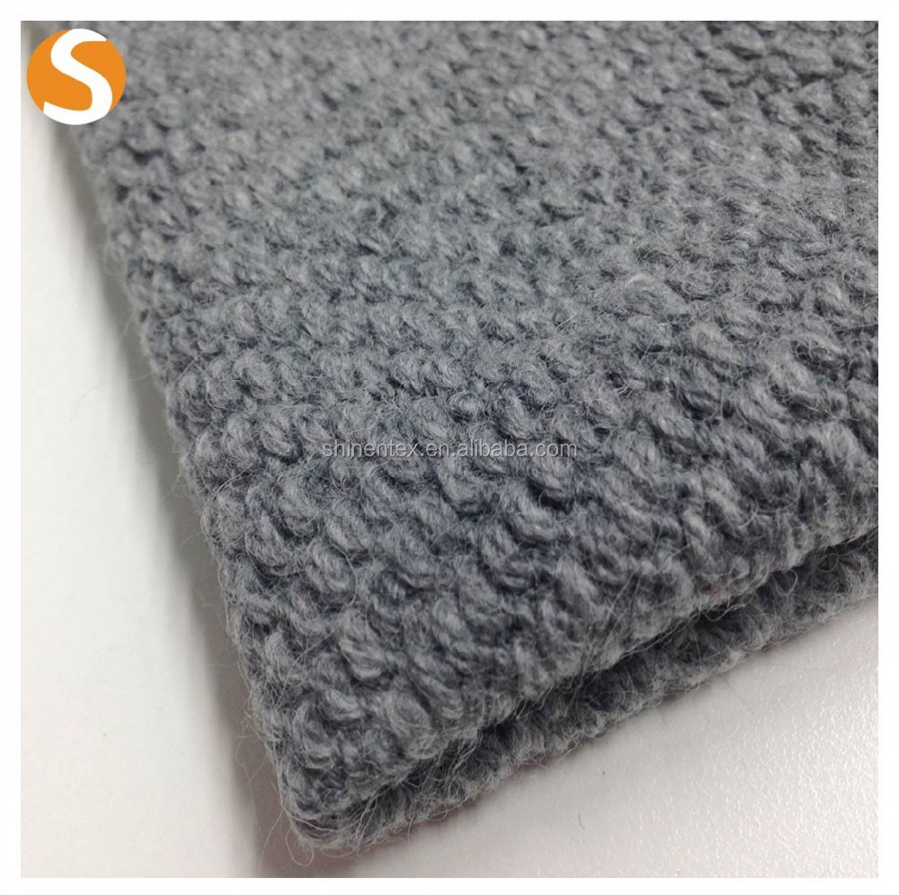 Polyester Acrylic Wool Towel Dyed yarn hacci knit fabric