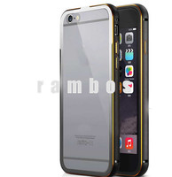 Luxury Aluminum Bumper Cover Ultra Slim Metal Frame + Transparent Clear Back PC Cases for Samsung galaxy S6 edge