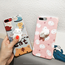 High Quality 3d Stress Reliever Soft animals cat Case-Kneading Squishy Case-Squishy cute Phone Case for LG K8