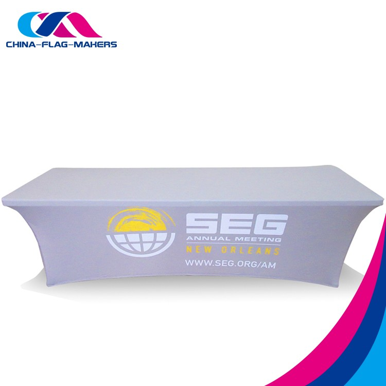 cheap 180g fit elastic polyester stretch table cover