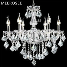 Zhongshan Glass&Crystal Chandelier Suspension Lamp 6 Candelabra with Clear MDS01A L6