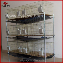 Best Selling 3 Level Large Folding Metal Rabbit Farming Cage(H type,Made in China)