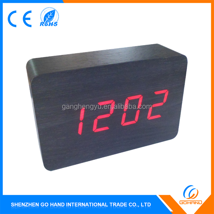 Wholesale Creative Table Digital Wood Alarm Clock Led Display