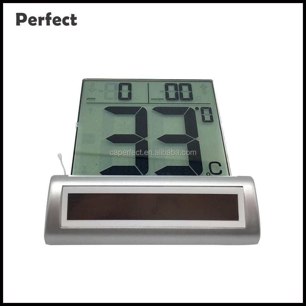 Alibaba buy now large LCD display digital solar garden window household hygrometer thermometer