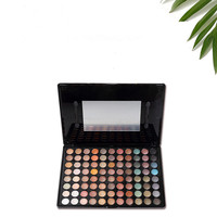 2016 high fashion warm color 88 color shimmer eye shadow palette