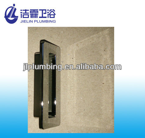 Rectangle lavatory overflow hole cover