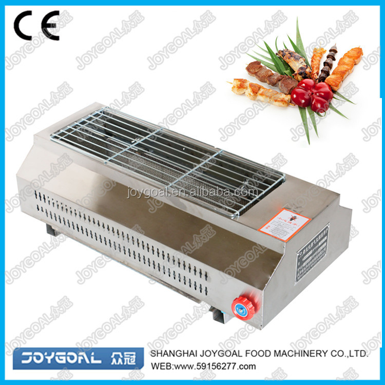 hot factory direct sales bbq fish grill with 2 burners
