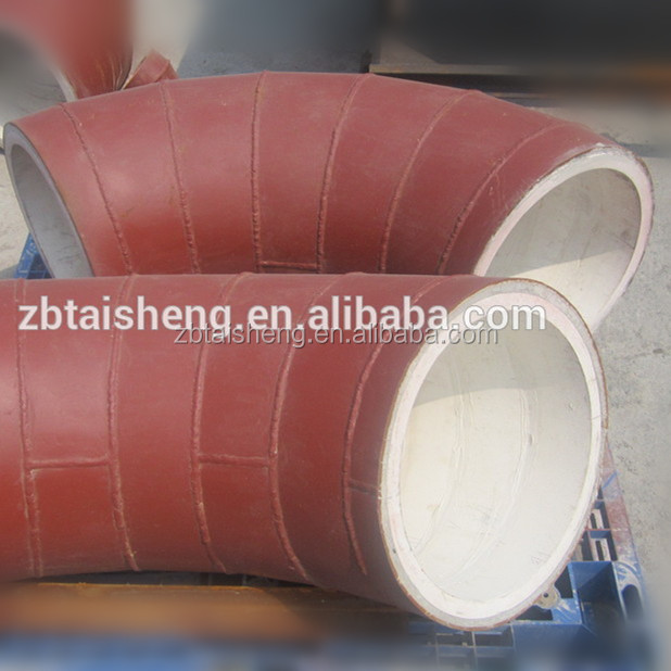 large diameter alumina ceramic composite steel pipe for hydrocyclone