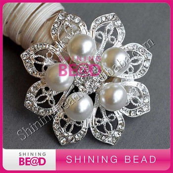 Fashion Designer Rhinestone Brooches Corsage Pins