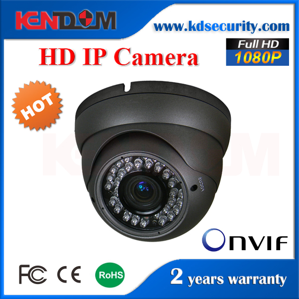 Kendom High Definition 2MP IR Security CCTV Dome Camera Support External POE built in MIC 1080P IP Dome Camera