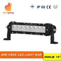 40w super bright led work light for 4x4 off road day time running light crees bar lights single row with FCC Emark