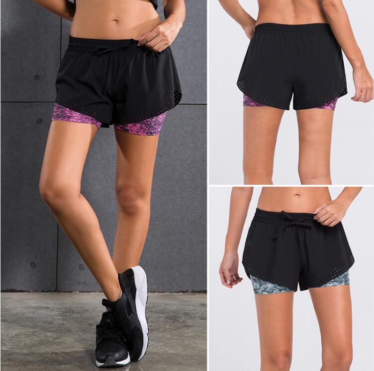 Stock Comfortable Sexy Tight Gym Fitness Female sport Jogging booty shorts
