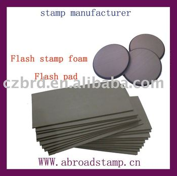 pre-inked stamp foam&flash stamp pad&flash stamp ink pad