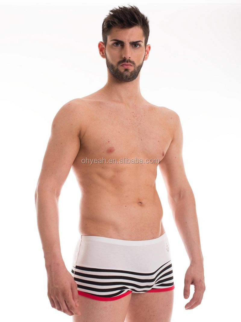 Cotton material top selling free sample men underwear