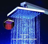 let top shower head in plastic or brass material