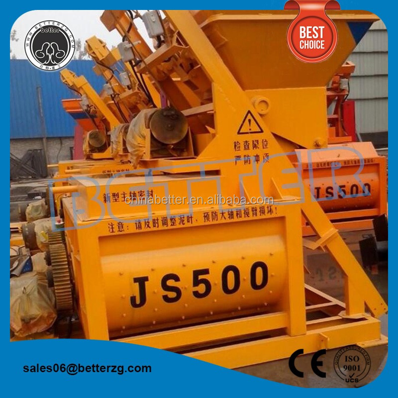 ready mix concrete machine JS500 0.5cubic meter discharge concrete mixers for sale in south africa