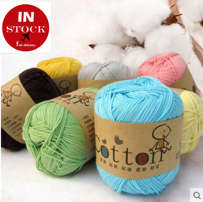 wholesale China suppier cotton yarn baby sweaters hand knitting yarn for various color
