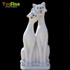 Outdoor Granite Animal Sculpture Stone Cats Statue For Garden