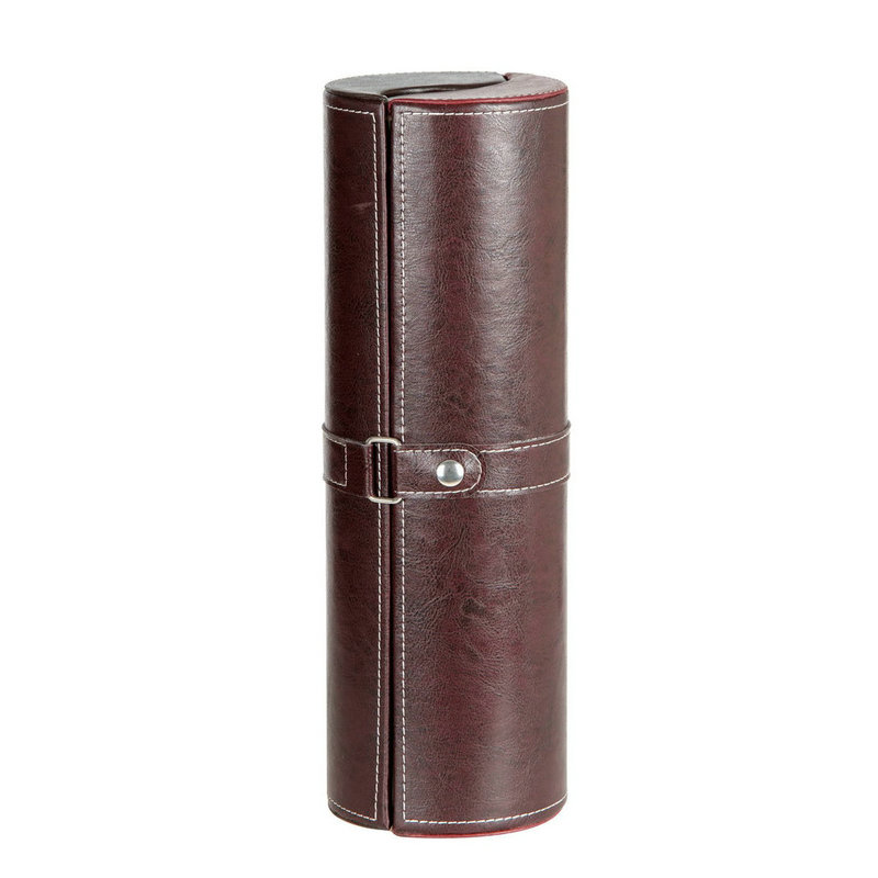 single bottls leather red wind packing roll box