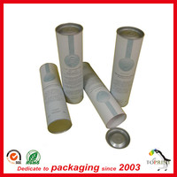 Recycle whiskey paper tube packaging wine bottle cylinder box packaging for bottles of wine