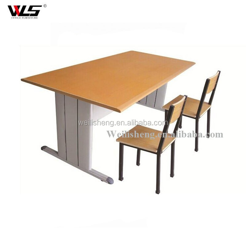 Steel Cheap Student Writing Furniture School Desk With Standrad Dimensions For Sale