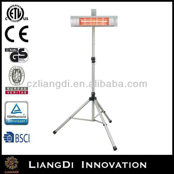 IP65 decorative natural gas garden standing heater flame effect