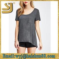 Raw-Cut Pocket Tee sexy tops for women,tops womans sexy,sexy tops big women tops