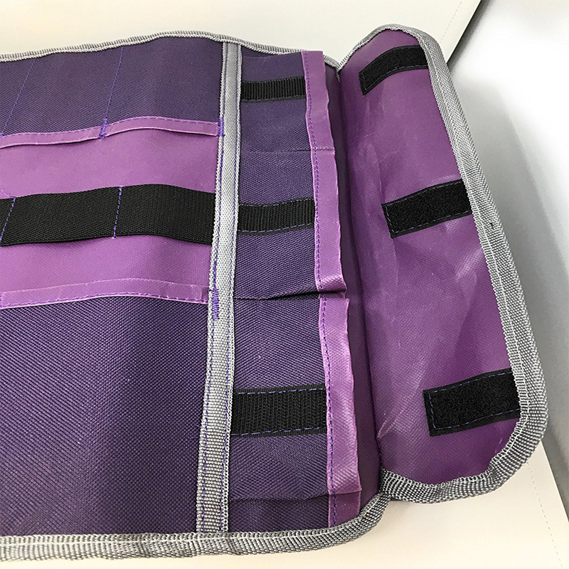 purple hairdress tool belt hair stylist salon cutting roller tools bag with roller