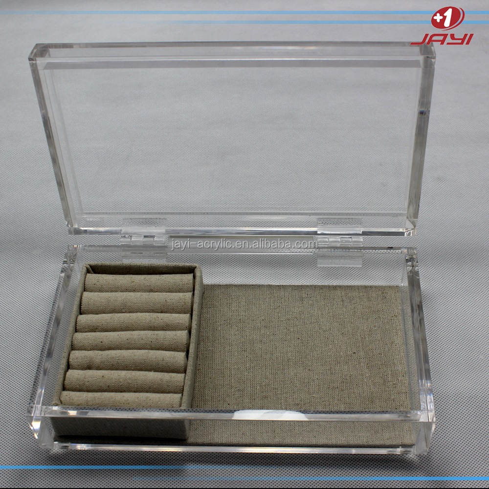 Wholesale Custom Luxury Transparent Acrylic Custom Jewelry Organizer Box