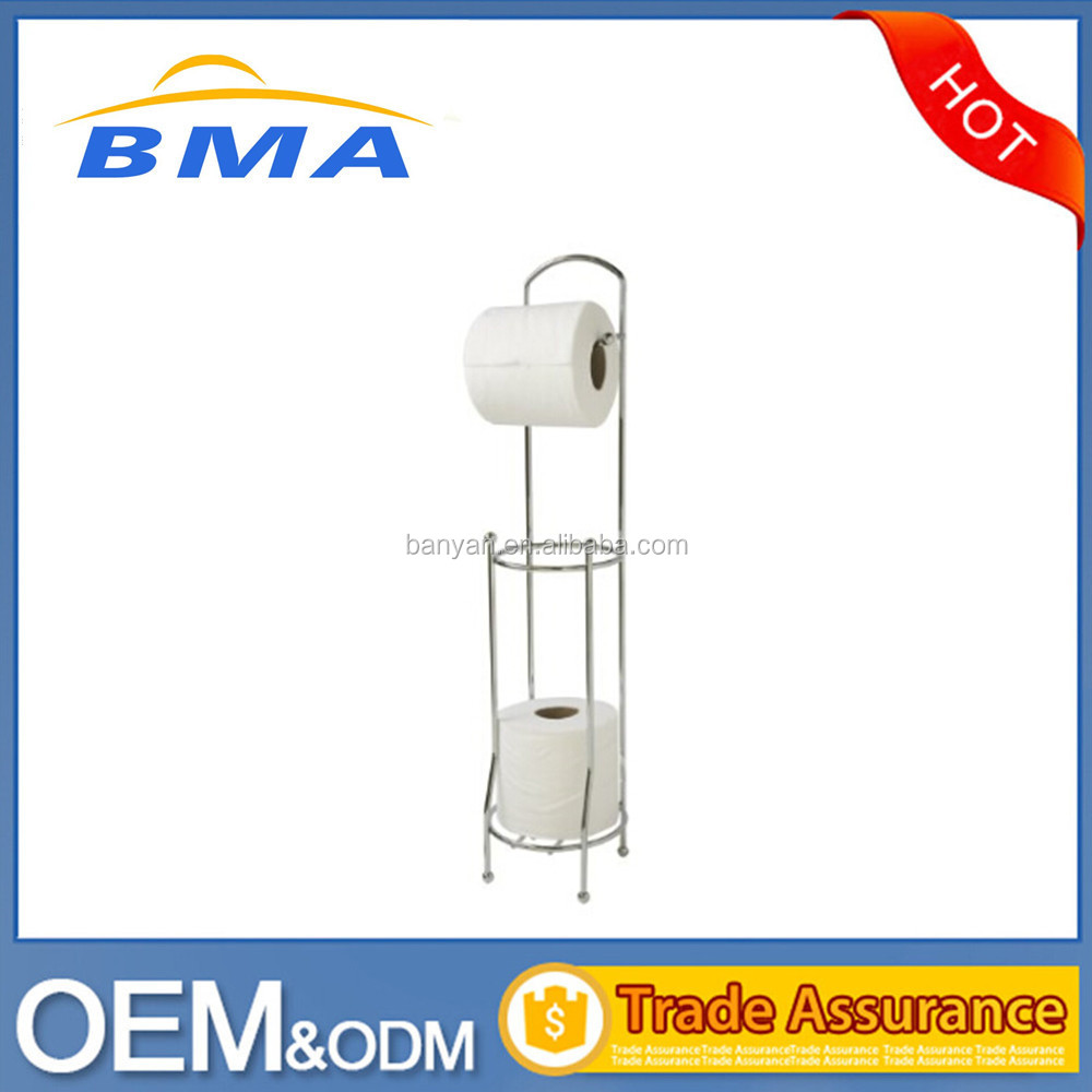 Jiangmen Free Standing Steel Wire Bathroom Toilet Paper Towel Holder