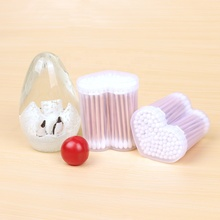 2019 New Style Natural large Eco friendly cotton buds with bamboo case