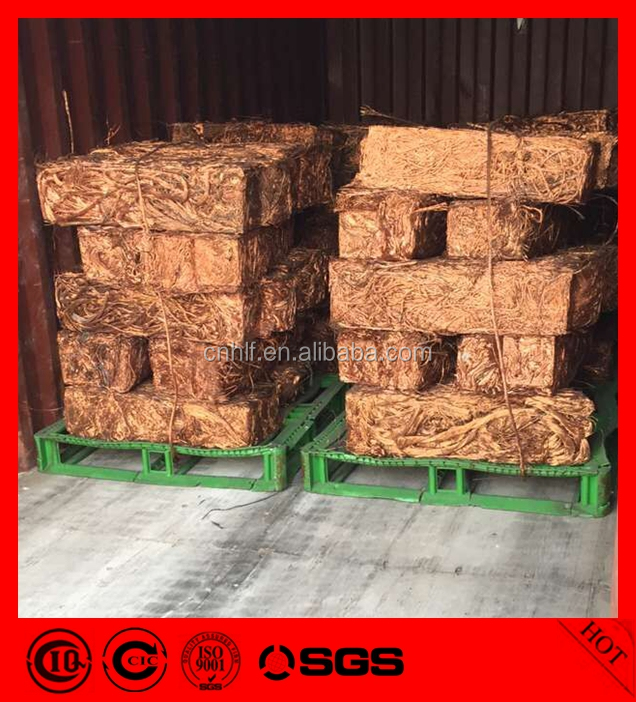high pure red millberry copper wire scrap 99.9% price for sale