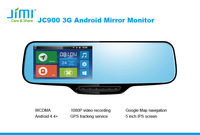 "Jimi gps tracking systems 4.3"" Built in Bluetooth Dual Video Inputs Auto Adjust Brightness Car Rearview car dvd stereo"