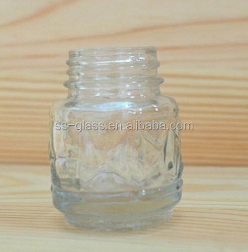 Mustard powder glass bottles